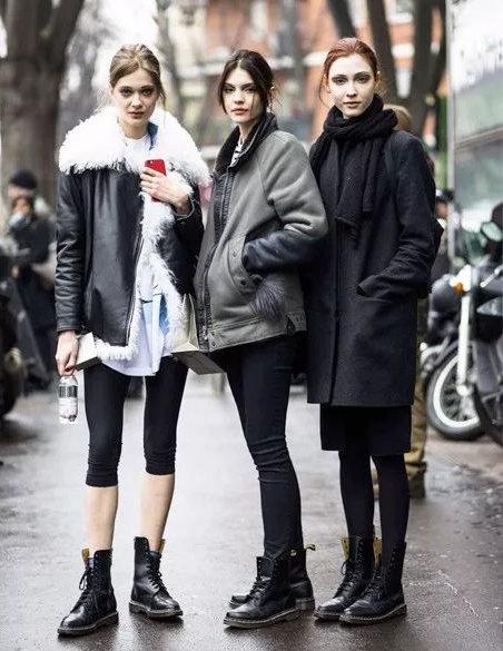 黑色马丁靴怎么搭配 复古帅气的视觉冲击