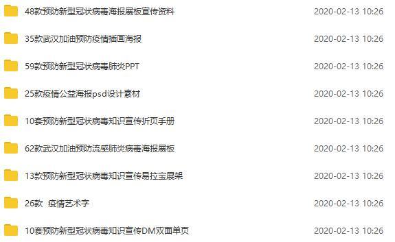大量新肺炎疫情宣传PSD文件