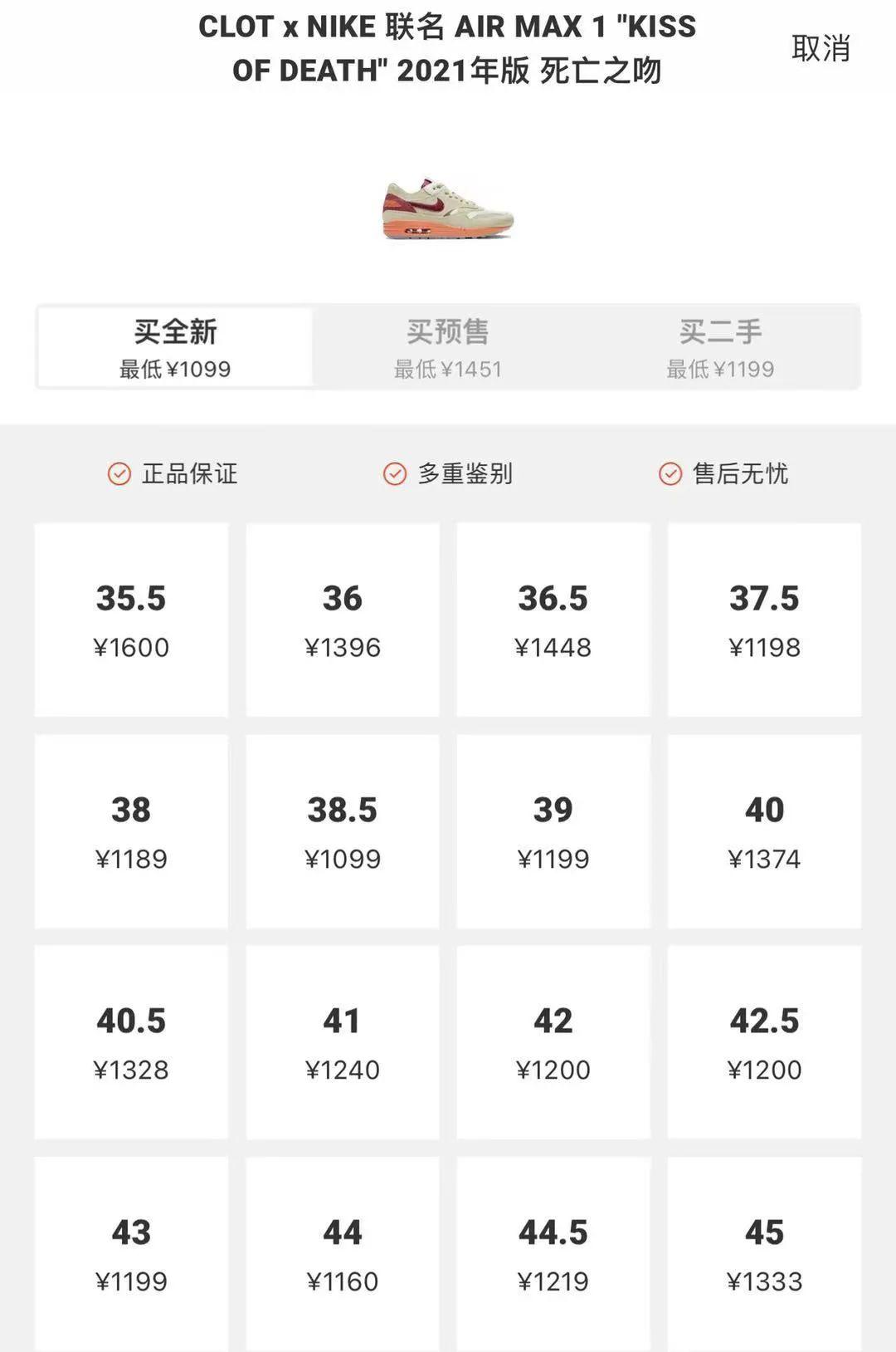 跌破原价!陈冠希 x Nike联名死亡之吻炒卖市场彻底崩盘!