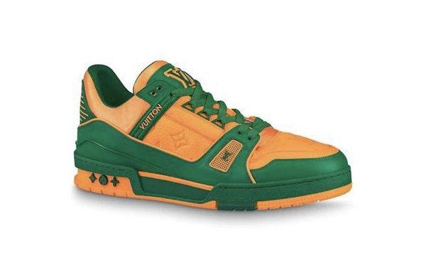 LV Trainer 鞋款三款新配色公布,复古时尚