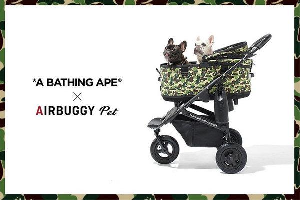 "Bape x AIRBUGGY PET 全新联名""宠物豪车""国内上架"