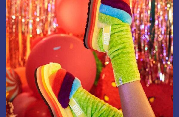 UGG 2021 Pride 骄傲月限定鞋款系列亮相,彩虹 Party~