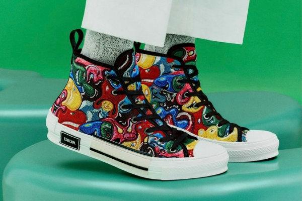 迪奥 x Kenny Scharf 联名 Dior B27 & B23 鞋款释出