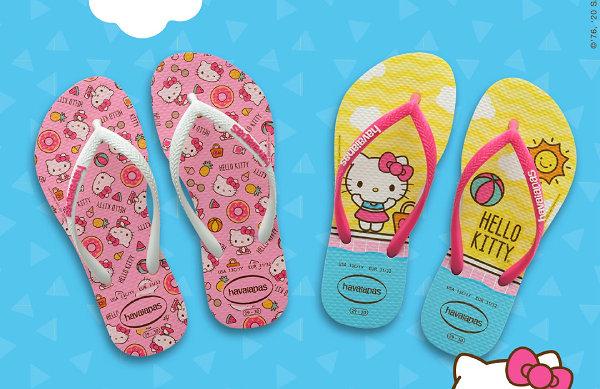 Havaianas x Hello Kitty 全新联名拖鞋系列上架
