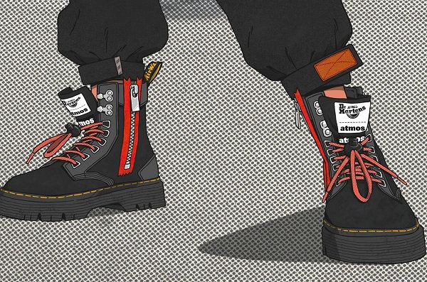 马汀博士 x atmos 全新联名 TARIK 靴款即将来袭