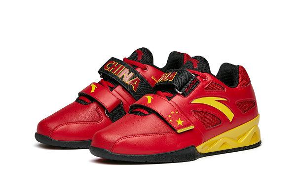 """安踏""""中国力量""""举重鞋款特别礼盒限量发售,红黄装扮"""