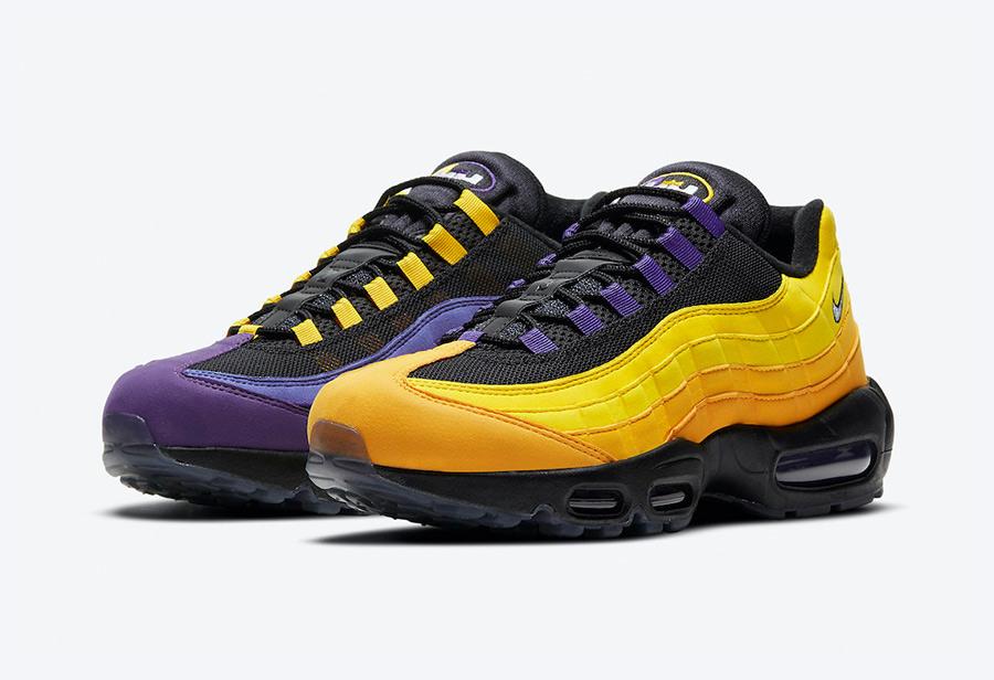 詹皇最爱鞋型 + 紫金配色!全新 Air Max 95 本月发售!