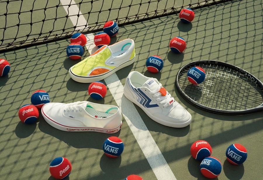 复古网球装扮!Vans 携手 Penn 推出全新联名!